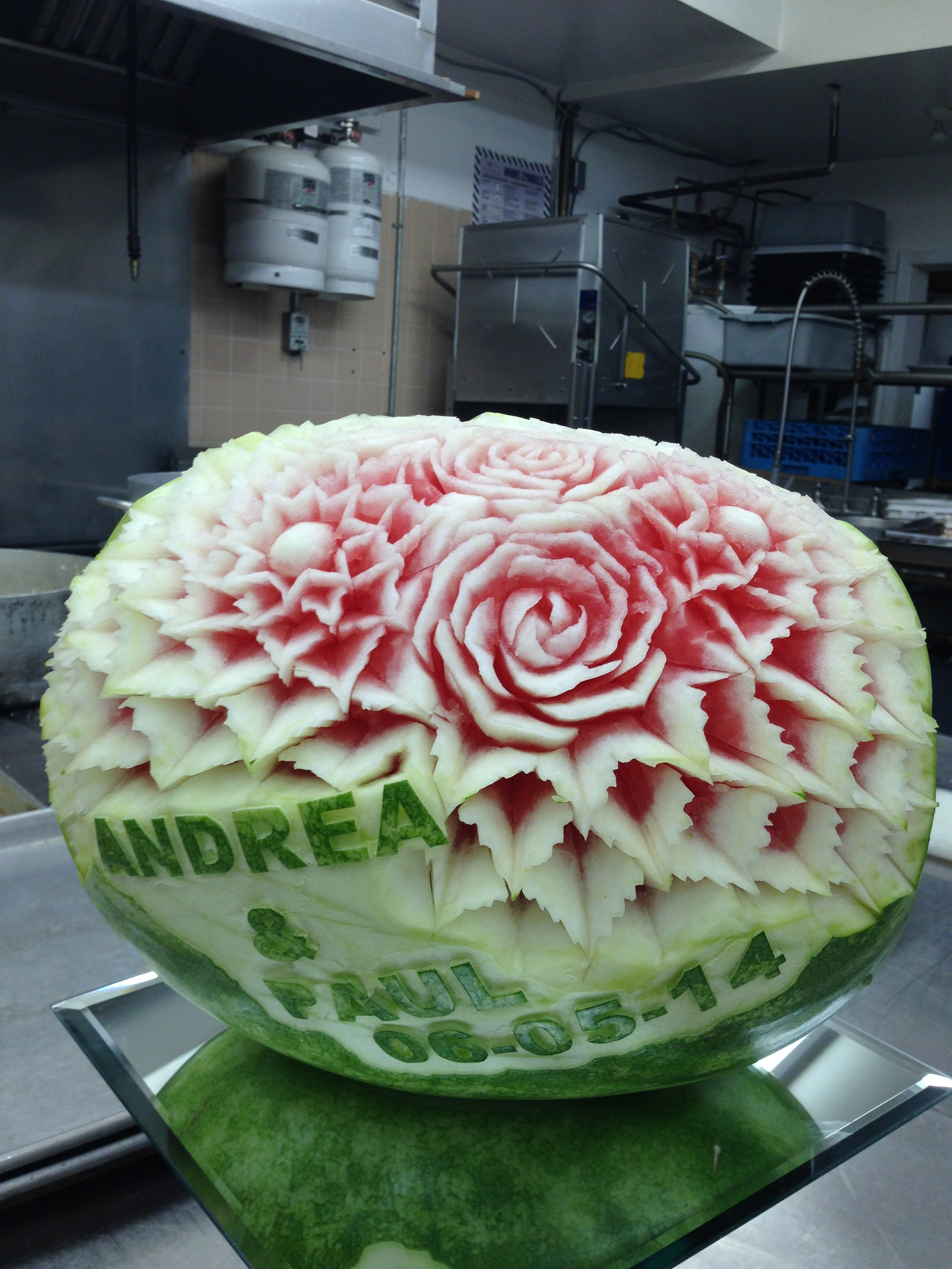 A and p watermelon carving the magnolia event boutique